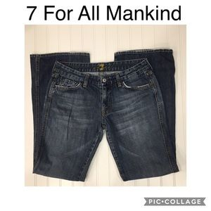 7FAM | A-Pocket Bootcut Blue Jeans Size 31